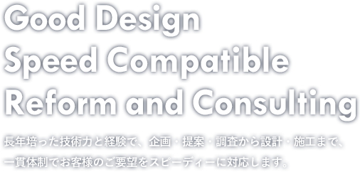 Good Design Speed Compatible Reform and Consulting